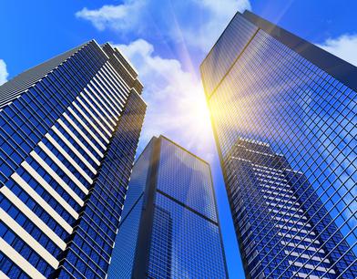 Drei Wolkenkratzer