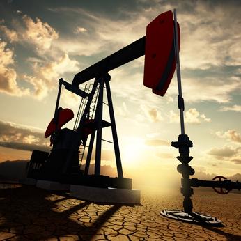 Ölpumpe fördert Öl