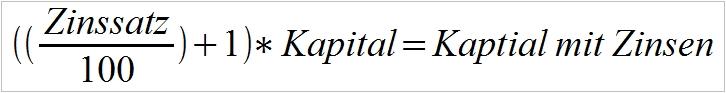 Zinsformel
